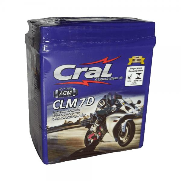 Bateria Cral Moto – CLM 7 D – 7 Ah
