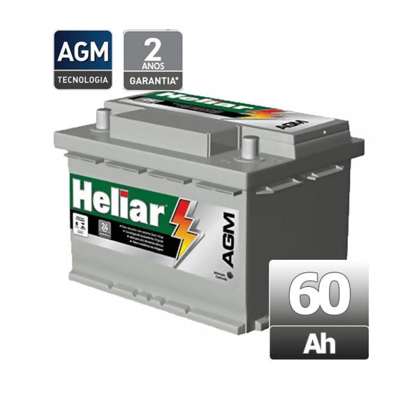 Bateria Heliar – AGM – AG 60HD