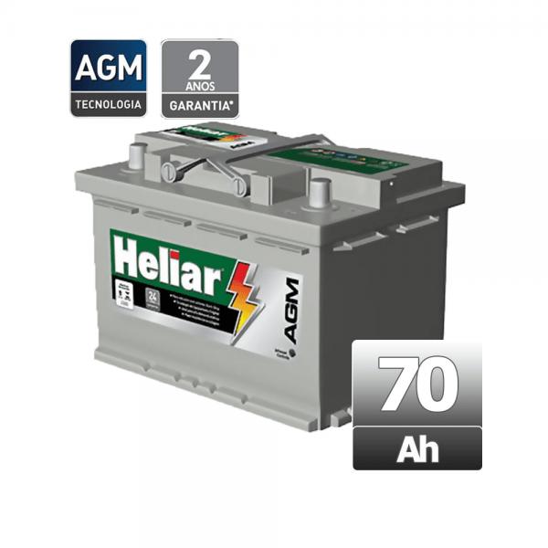 Bateria Heliar – AGM – AG 70PD