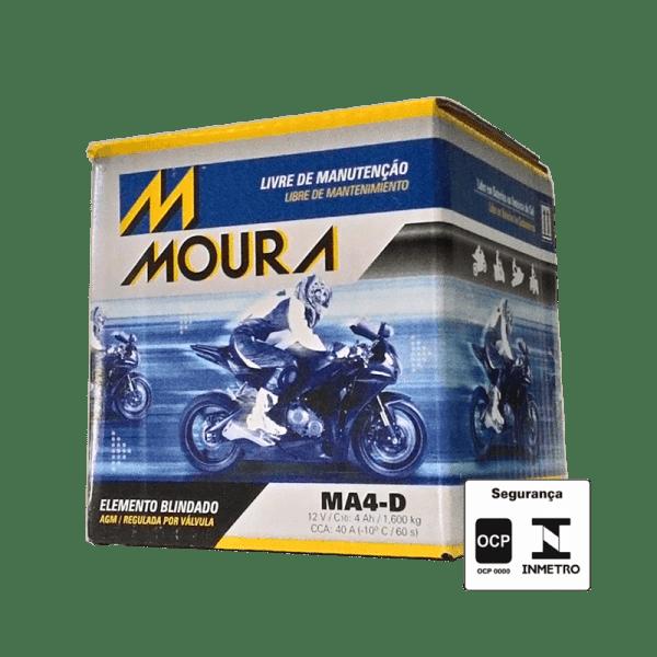 Bateria Moura Moto – MA4-D – 4 Ah