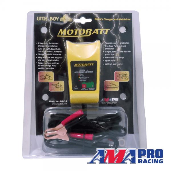 Motobatt – Little Boy – 6V/12V 1A – Carregador automático inteligente