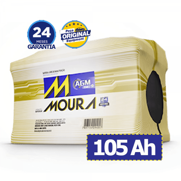 Bateria Moura AGM – MA105DD – 105 Ah