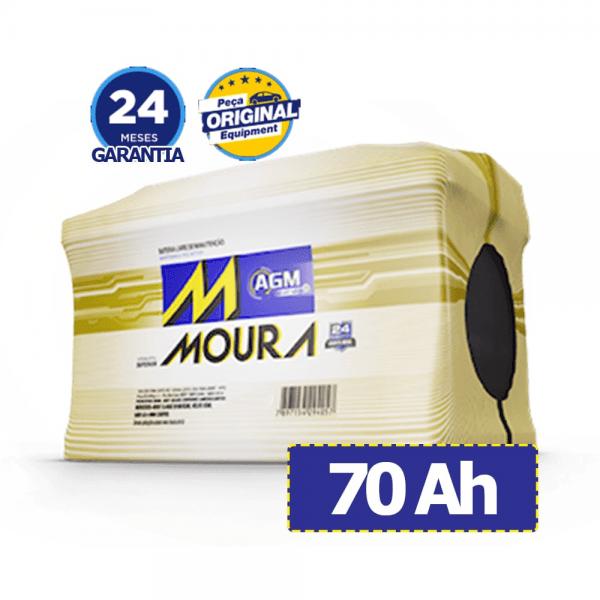 Bateria Moura AGM – MA70LD – 70 Ah