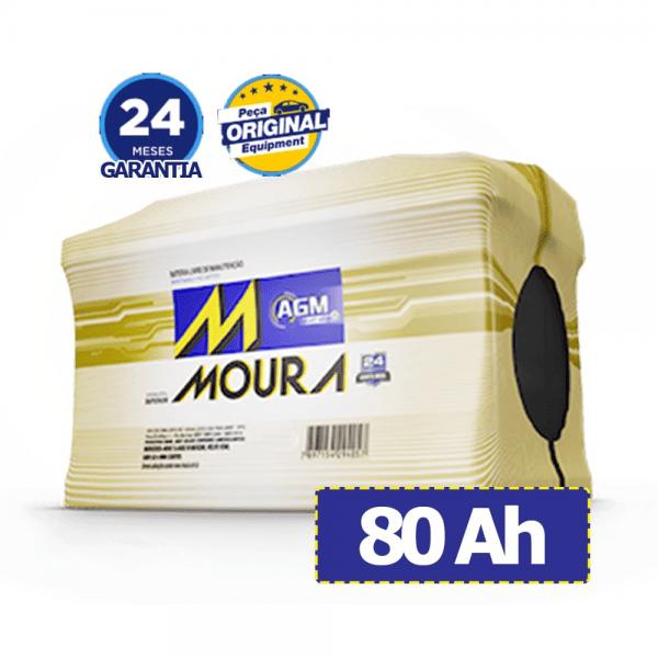 Bateria Moura AGM – MA80CD – 80 Ah