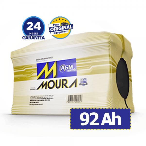 Bateria Moura AGM – MA92QD – 92 Ah