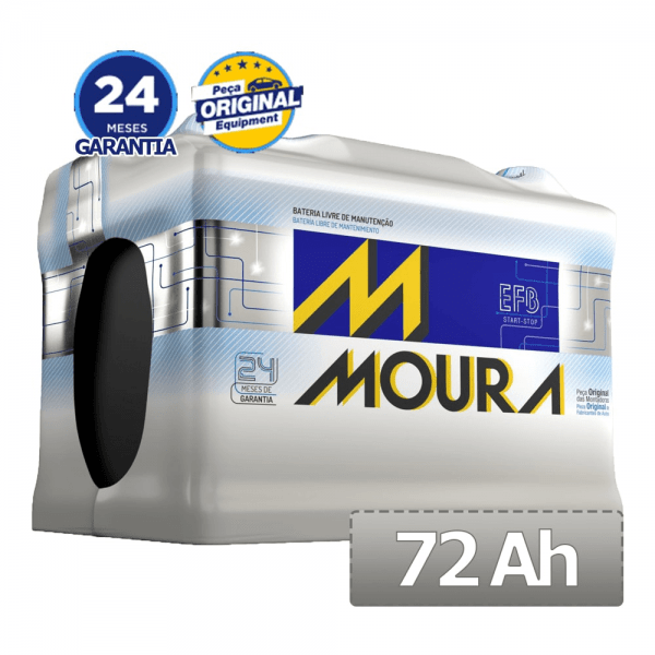 Bateria Moura EFB – MF72LD EFB – 72 Ah