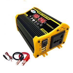 Inversor 4000w 12v para 110/220v DC/AC com tomada universal e 2 portas USB – Power Solar